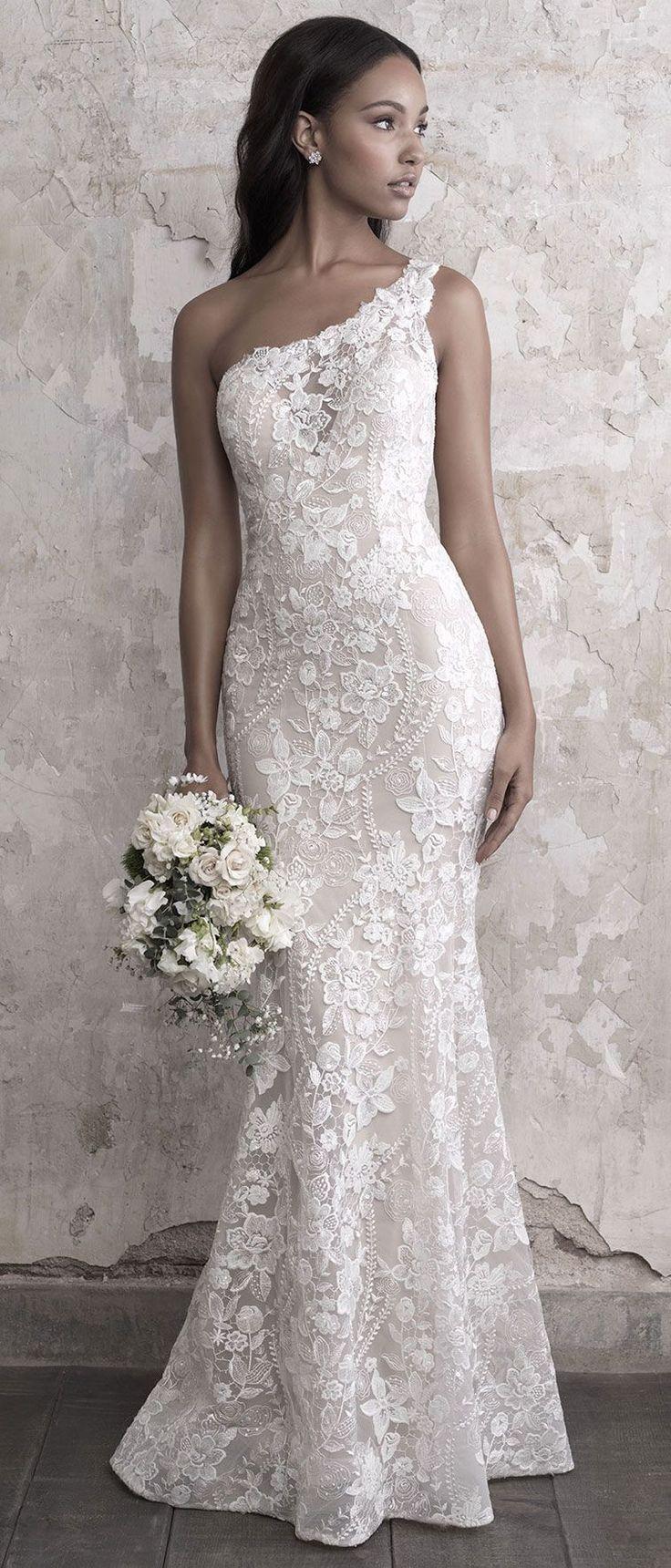 Madison James Wedding Dresses – one shoulder wedding gown #weddingdress #weddinggown #bride #bridalgown