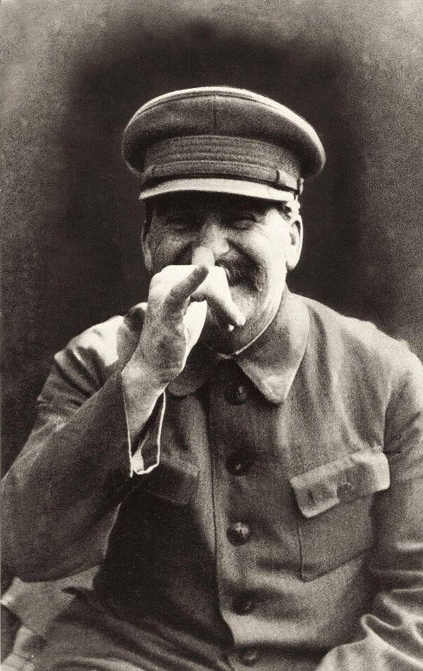 Joseph Stalin making a face at his bodyguard. Photo by Lt. Gen. Nikolai Vlasik, c. 1930