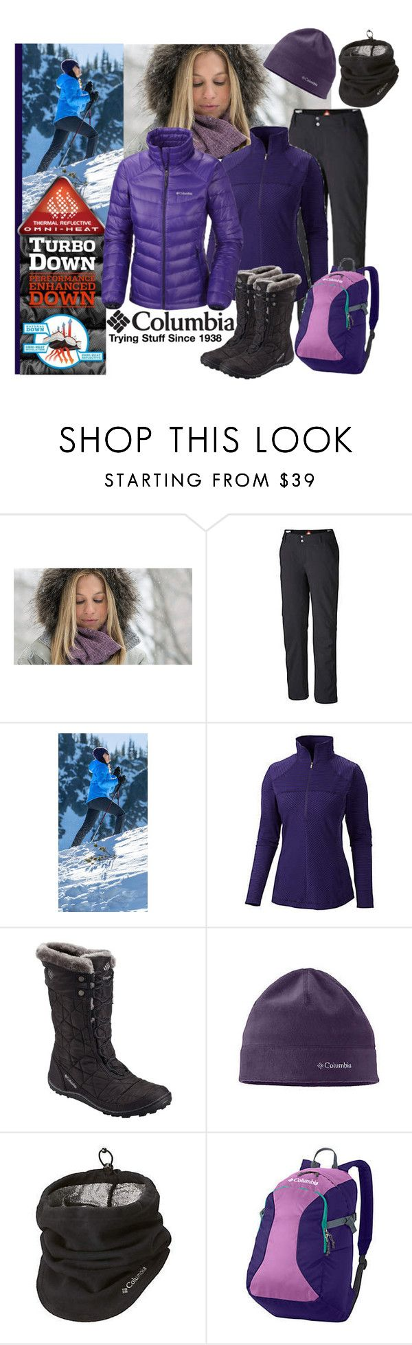 """""""Get Down With Columbia TurboDown: Contest Entry"""" by robin-phelps ❤ liked on Polyvore featuring Columbia Sportswear, TurnDown, Columbia and tryingstuff"""