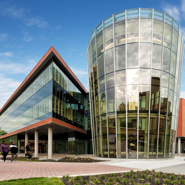 The Center for Natural Sciences, Mathematics, and Nursing at Bowie State University and designed by Perkins + Will prominently display's its lightning protection air terminals.