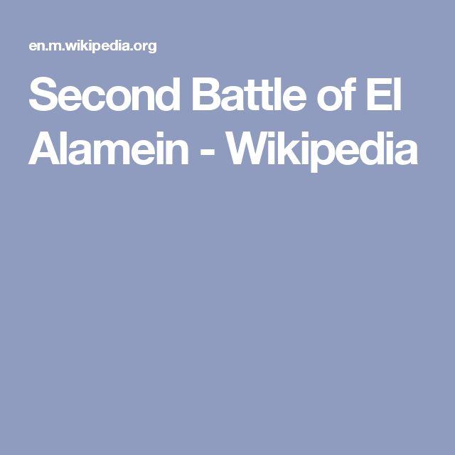 Second Battle of El Alamein - Wikipedia