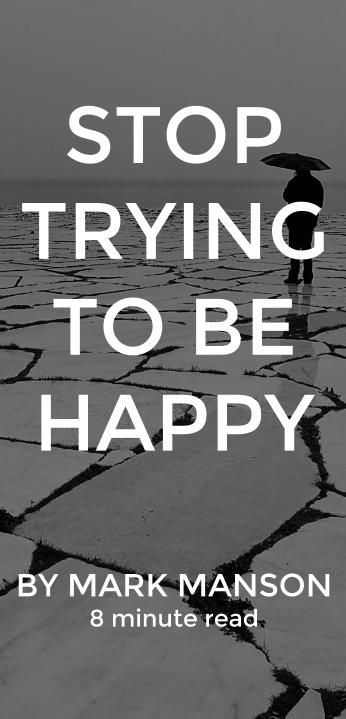 If you have to try to be cool, you will never be cool. If you have to try to be happy, then you will never be happy. Maybe the problem these days is people are just trying too hard.