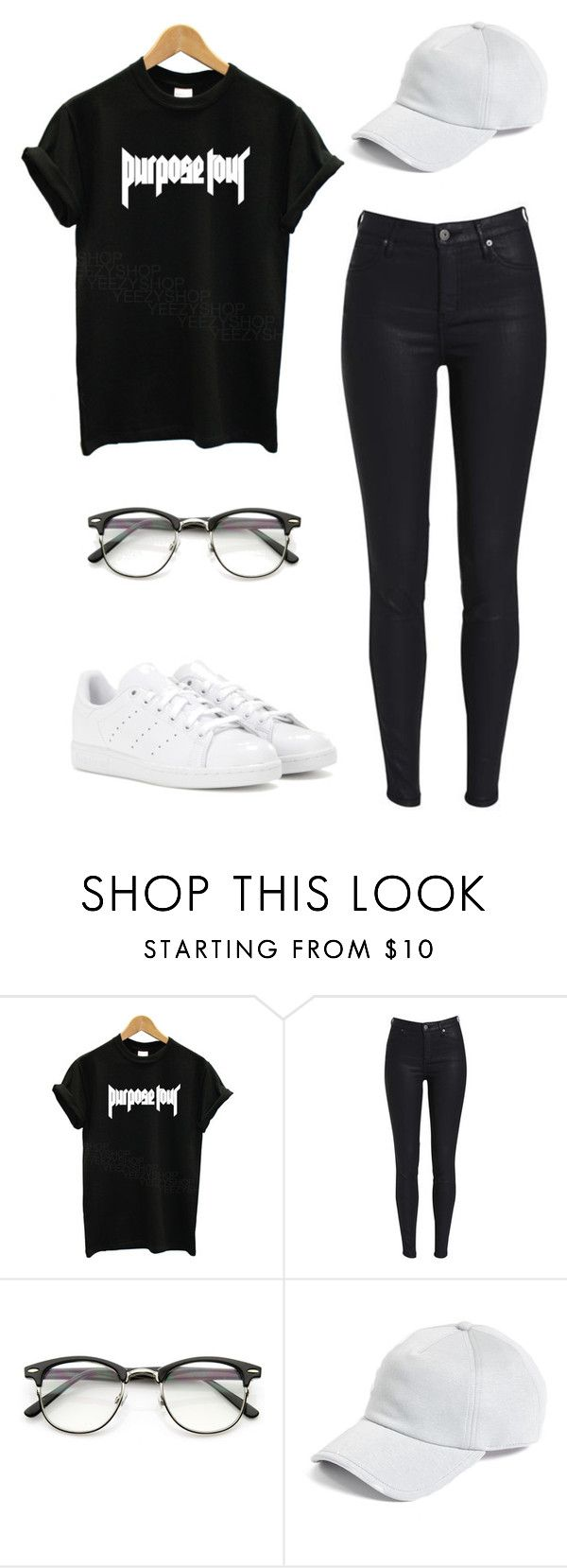 """""""PURPOSE TOUR CONCERT"""" by ariadnaschz ❤ liked on Polyvore featuring Justin Bieber, rag & bone and adidas"""