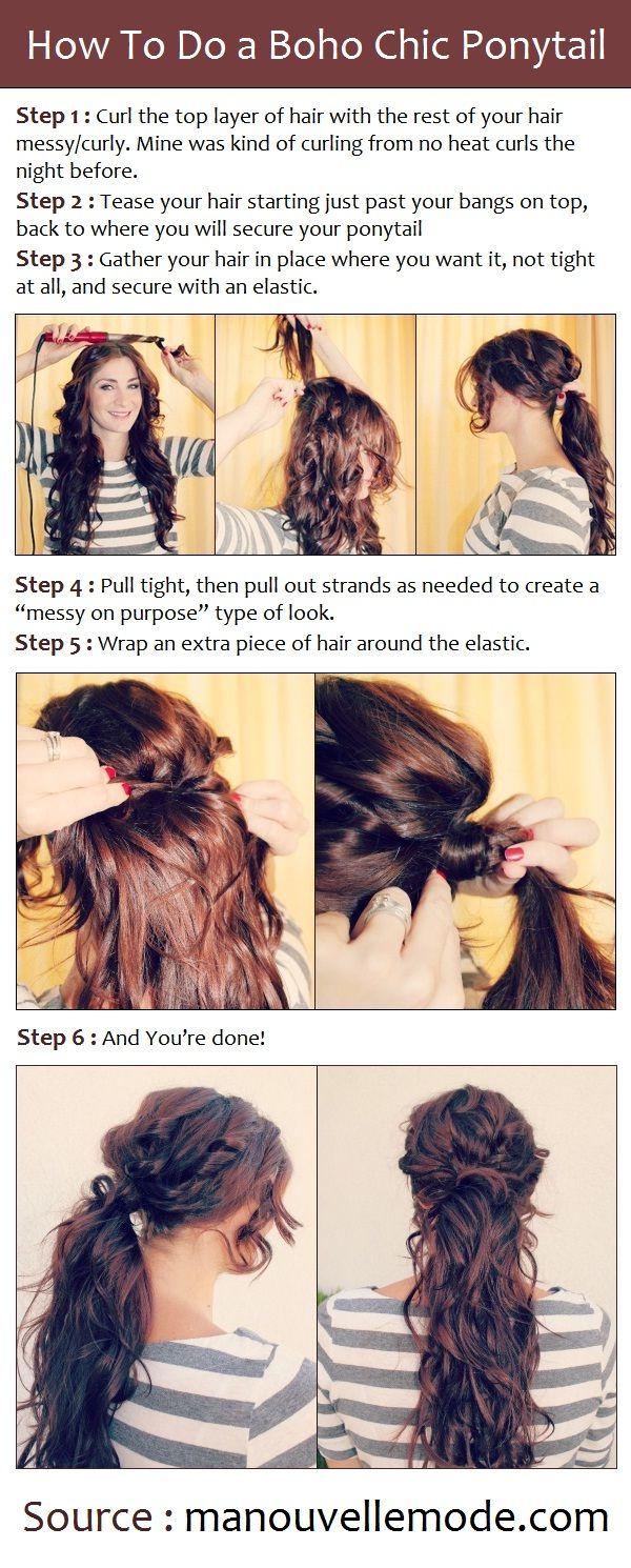How To Do a Boho Chic Ponytail | PinTutorials