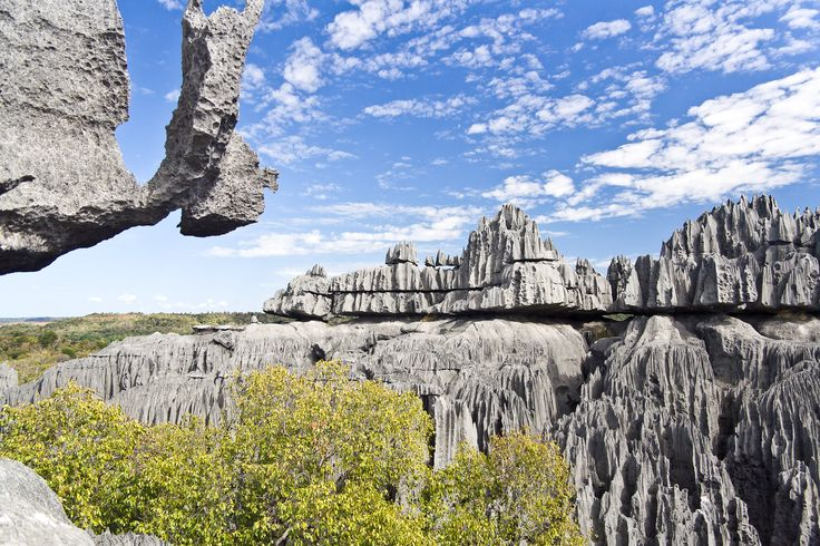 Tsingy de Bemaraha Strict Nature Reserve is a nature reserve located near the western coast of Madagascar in Melaky Region. The area was listed as a UNESCO World Heritage Site in 1990 due to the unique geography, preserved mangrove forests, and wild bird and lemur populations.