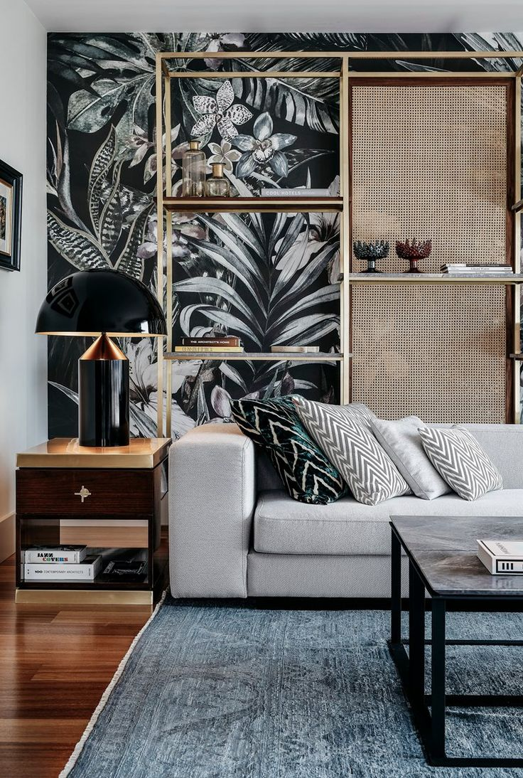 Modern interior wallpaper swatch - In This Penthouse In Istanbul Contemporary Modern Style Shows Itself Through Every Detail Living Space