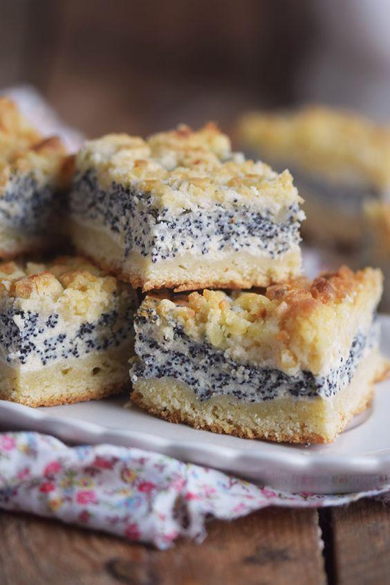 Mohn Streusel Quark Kuchen Poppy Seed Crumble Cheesecake Rezepte