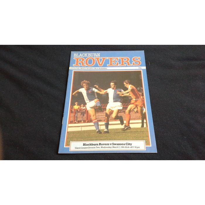 Football Programme Blackburn rovers v Swansea city wednesday March 7th 1984 Listing in the Second Division Fixtures,League Fixtures (1980-1992),League Fixtures,English Leagues,Football (Soccer),Sports Programmes,Sport Memorabilia & Cards Category on eBid United Kingdom | 156596197