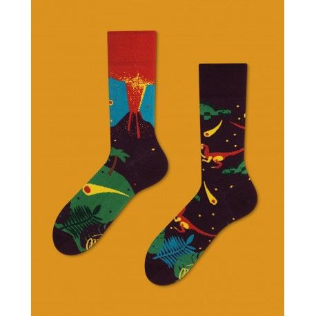 skarpetki w dinozaury Many Mornings The Dinosaurs socks oddsocks - polscy projektanci / polish designers - made in poland - elska.pl