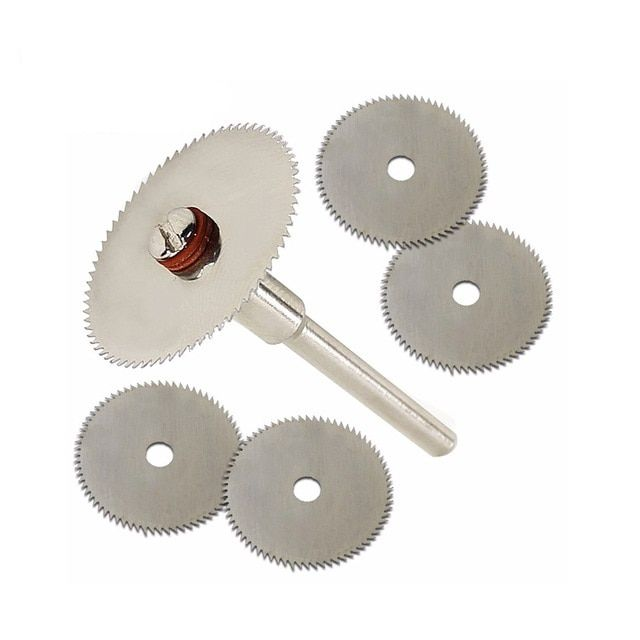 6Pcs Mini HSS Circular Saw Blade Rotary Cutter For Metal Cut Hand Tool Set New
