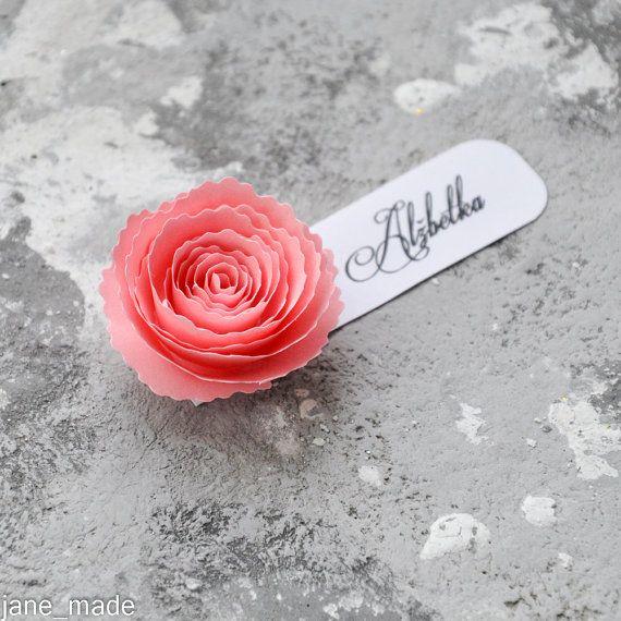 Rose Wedding name table tags Wedding Table by dorothyrovensky