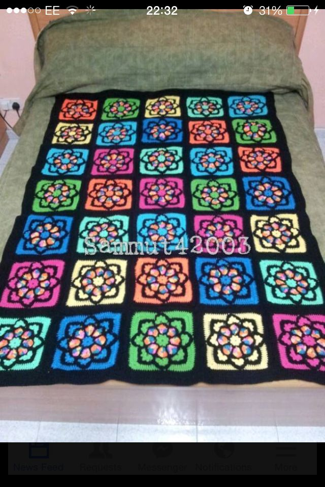 Stained Glass Afghan Crochet Afghans And Blankets
