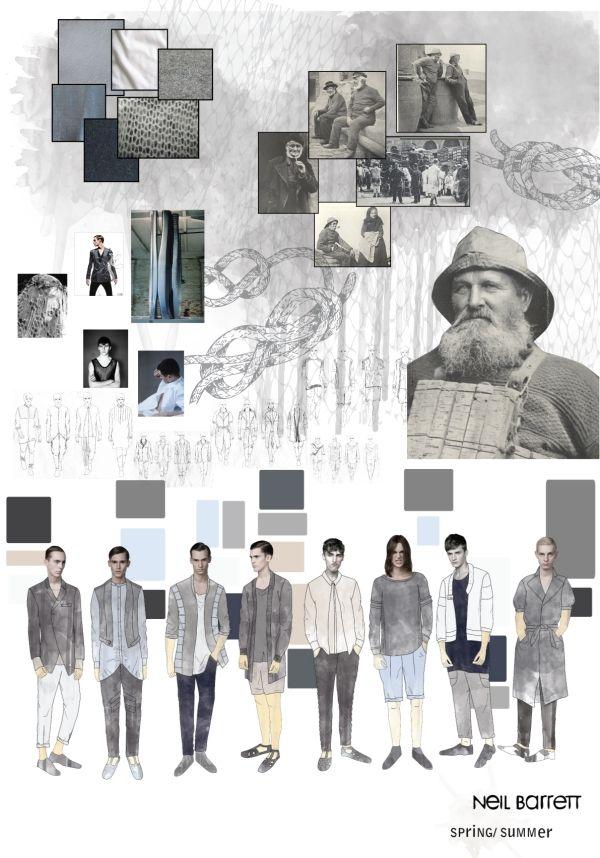 Fashion Sketchbook - fashion illustrations; fashion design development; fashion portfolio // Neil Barrett project, Deborah Harkins
