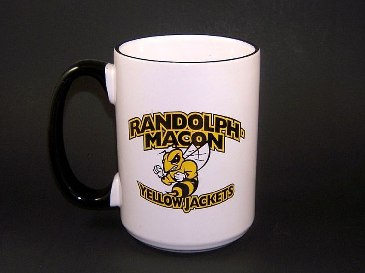Randolph Macon College Yellow Jackets Mug M Ware Cup W C Bunting Co 18 fl. oz. #MWare