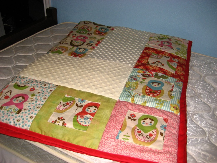 Russian Doll Twin Quilt. $225.00, via Etsy.