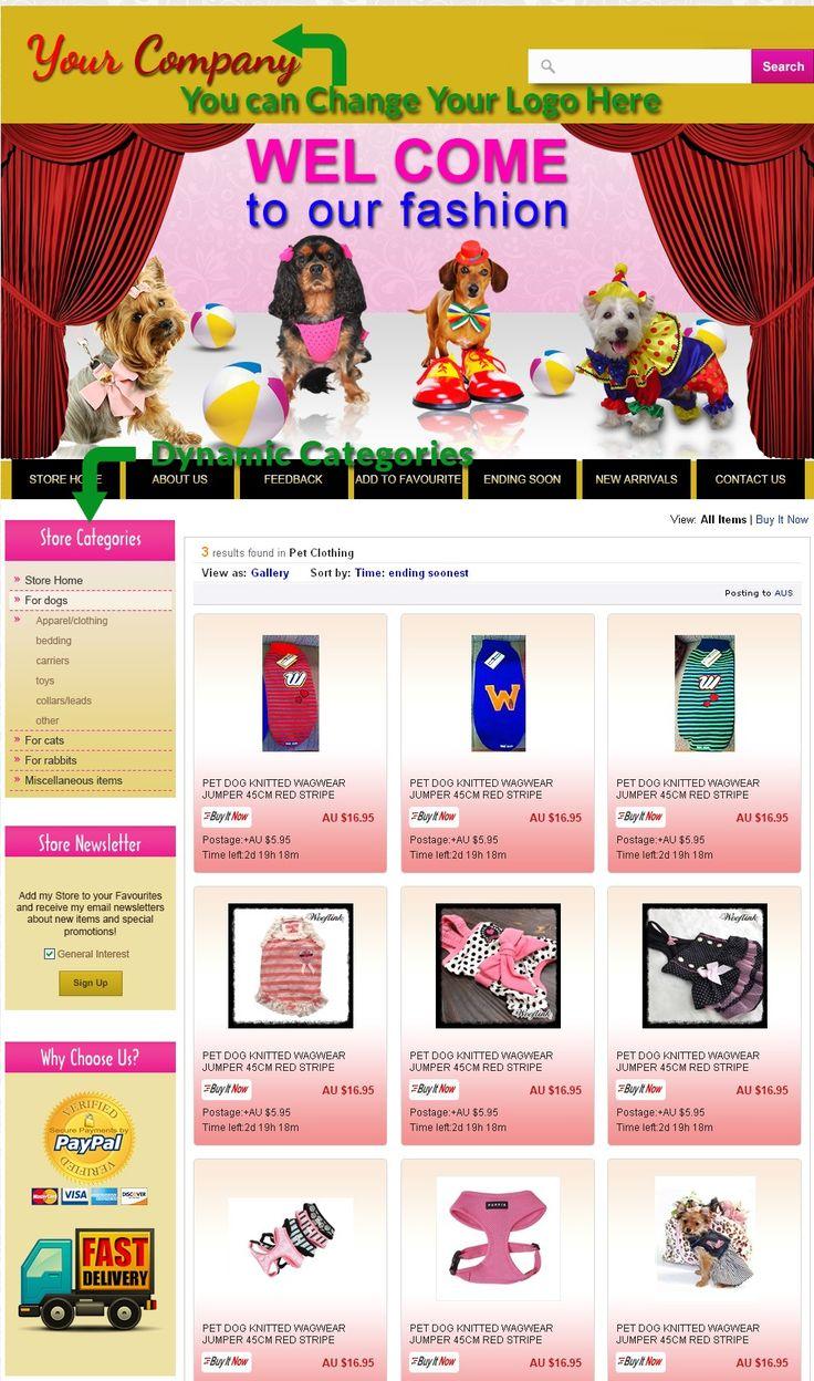 20 best Animal Pet Theme Professional eBay Store Auction