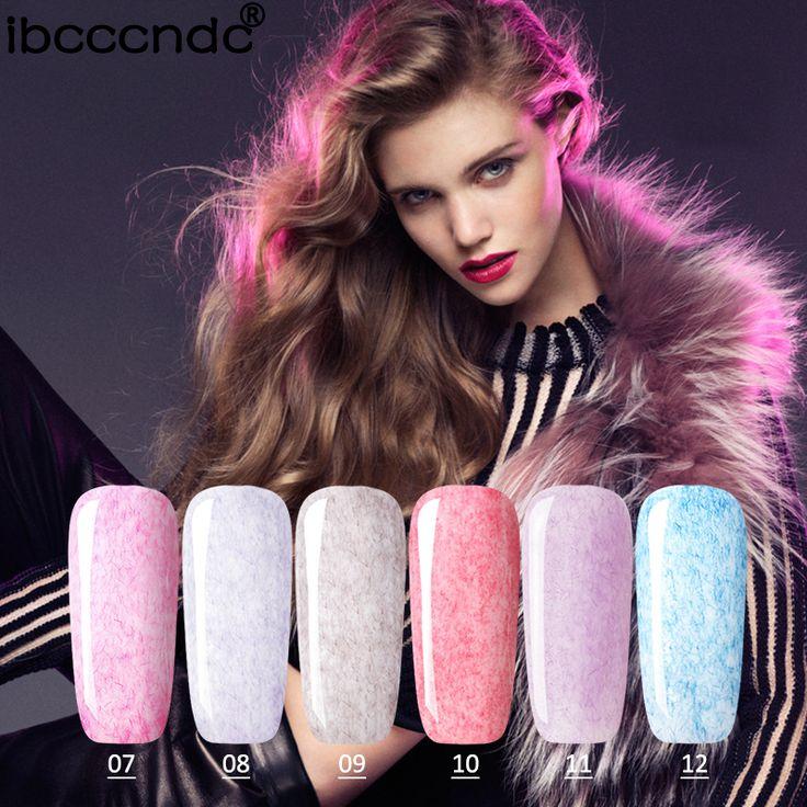New 3ml Long Lasting Faux Fur Effect Nail Gel Soak Off UV LED Nail Polish 12 Colors Lacquer for Nail Art Design Varnish Shilak #Affiliate