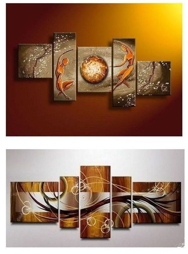 Large Abstract Painting Orange Love Canvas Wall Art Pictures