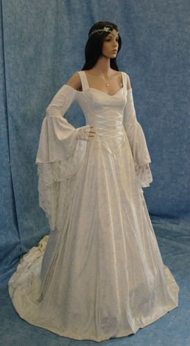 Handfasting Medieval Wedding Dress LOTR Renaissance Fantasy Gown Custom Made | eBay