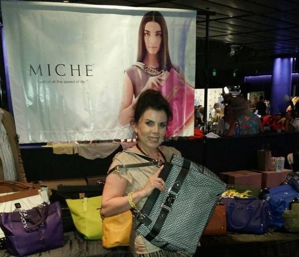 #MICHE at the #EMMYS -- Marilyn Ghigliotti star of Clerks....with her MICHE gift handbag at the Emmy's! #michecelebritysightings