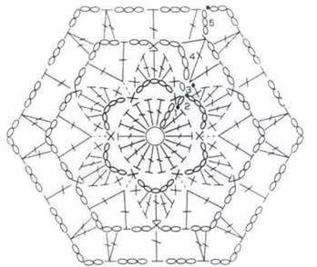 Шестиугольные мотивы крючком со схемами фото 518