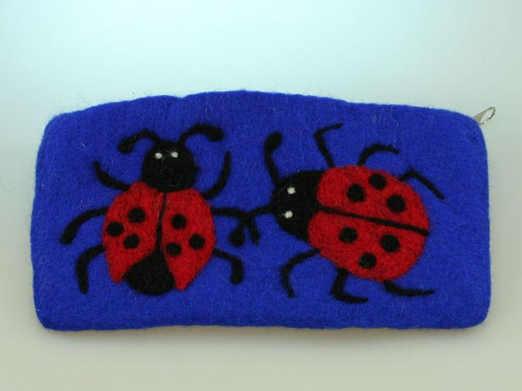 """Federmäppchen - Filzetui """"My Ladybugs"""" - ein Designerstück von bastelfuerst bei DaWanda"""