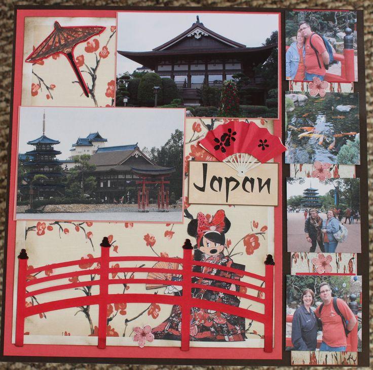 Epcot Japan scrapbook page.