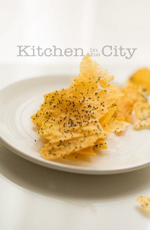 Chips di polenta, non fritte e senza glutine.