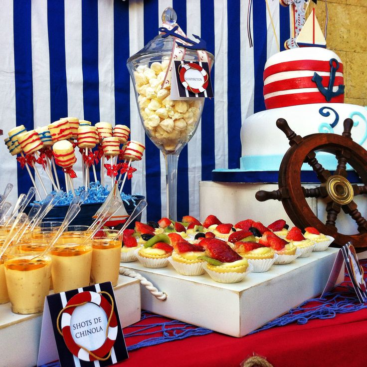 Royal Wedding Themed Desserts: Nautical Desserts Table