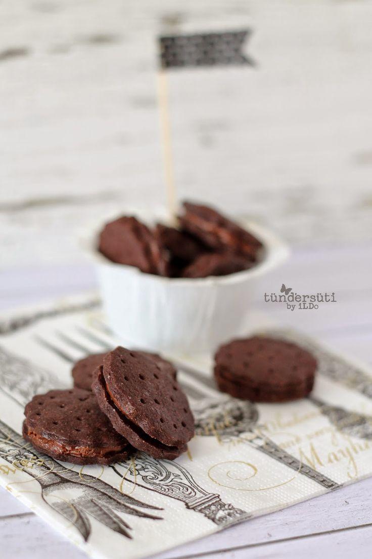Tündérsüti: Csokis töltött keksz