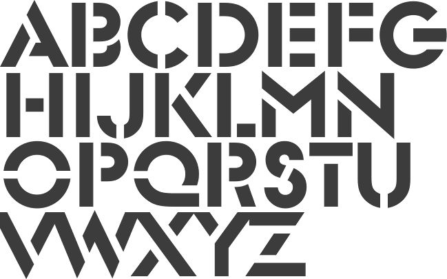 Stencil fonts: Graphic Obsession