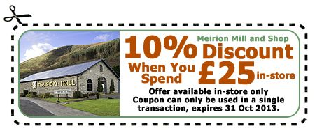 Meirion Mill Discount Coupon