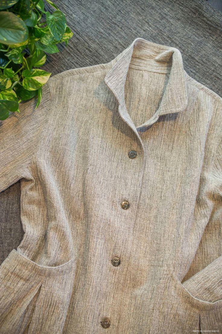 GRAPE Motomachi / Cotton Linen Voile Jacket #cotton #linen #voile #jacket #grey #grapemotomachi