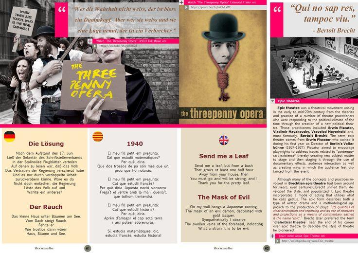 Bertolt Brecht, Epic Theatre. Page 1/3. Bocamolla Issue #5.