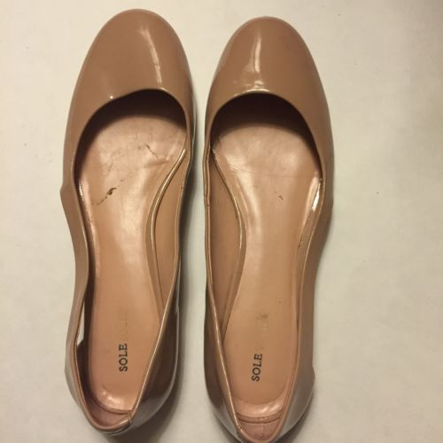 Sole-Society-Nude-Cut-Out-Flats-Size-11 This nude flat is the perfect spring staple. The side cutout makes gives them a modern take.