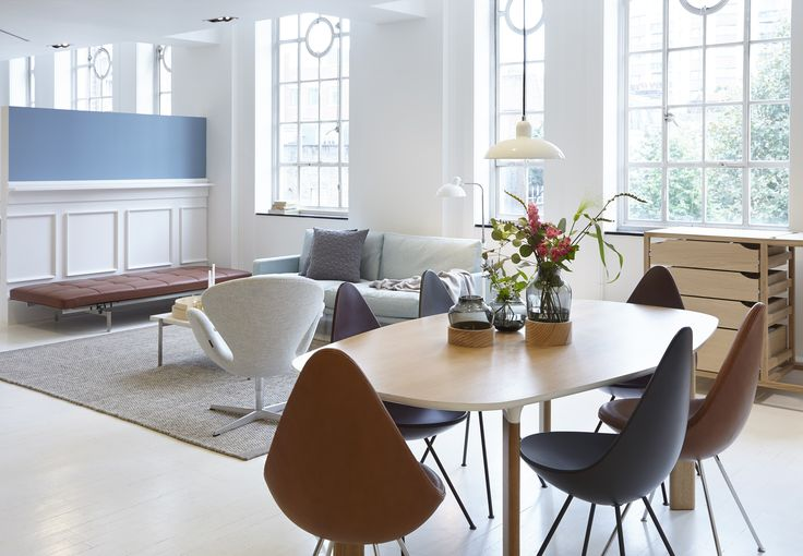 Fritz Hansen in Heal's London. Shown classic designs from Arne Jacobsen and Poul Kjærholm to contemporary designs from Jaime Hayon and Piero Lissoni.