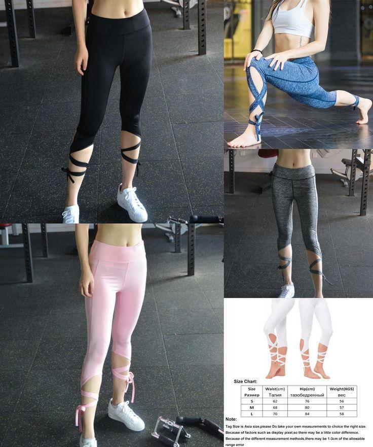[Visit to Buy] Yoga pants Ballet Spirit Bandage Workout Infinity Turnout Leggings White Yoga Leggings Mallas Mujer Deportivas Fitness #Advertisement