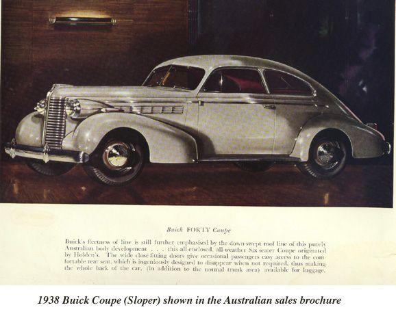 Australian 1938 Buick Sloper