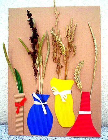 Naturbild mit Grashalmen und Ähren
