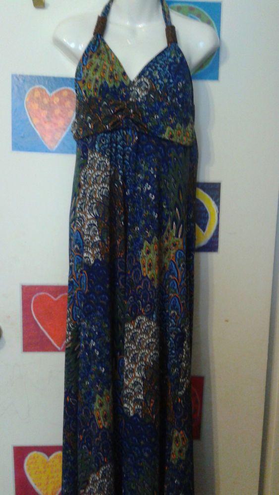 west loop women printed maxi dress halter sz xlarge multicolor super sexy  u0026 hot  westloop  maxi