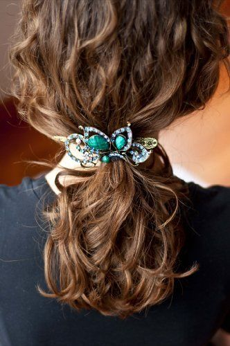 Treena Bean Vintage Fashion Jeweled Turquoise Rhinestone Hair Clip***FREE SHIPPING***CHECK OUT OUR OTHER COLORS AND DESIGNS*** by Treena Bean. $19.95. Creates a strong hold to secure hair in place. Our Products are Lead & Nickel Free. Vintage Antiqued Brass Clip that is Stylish and very affordable. Our Hair Jewelry are mainly made from antiqued metal, crystals and rhinestones. Ideal for Wedding Events, Prom and used as Bridal hair accessories. Vintage Antiqued Brass Hair Cl...
