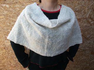 Pashmina cerrada, en lana de oveja. Tejidos del Campo