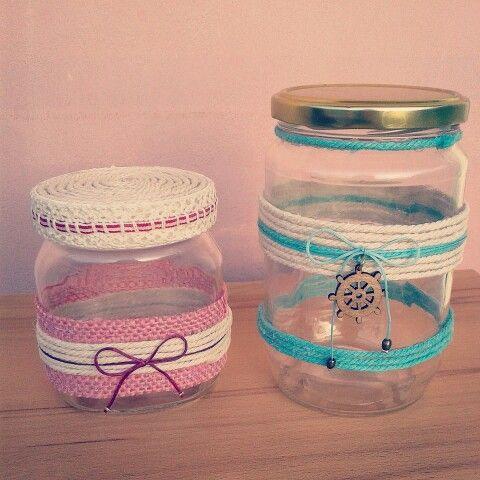 Handmade jars in progress. .
