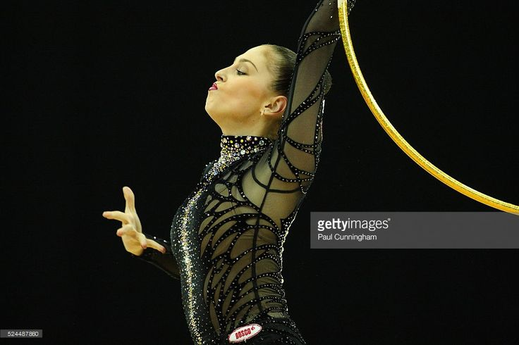 Visa Federation of International Gymnastics (FIG) - Daria Kondakova of Russia performs with the Hoop during the Final of the Women's Rhythmic Olympic qualification event at the O2 Arena London 18 January 2012 --- Image by �� Paul Cunningham/Corbis