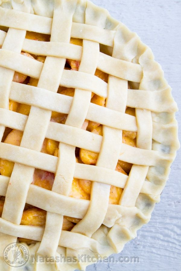 Here's a quick tutorial on how to make a lattice pie crust topping. You'll be a pro in no time! I hope you find this woven pie crust tutorial helpful.