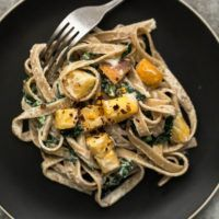Roasted Rutabaga Pasta with Cashew Sauce