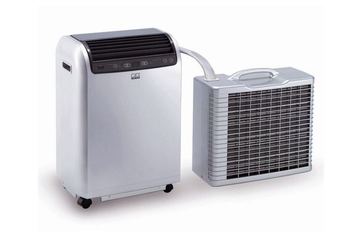Mobile Air Conditioner On Wheels With Outdoor Units