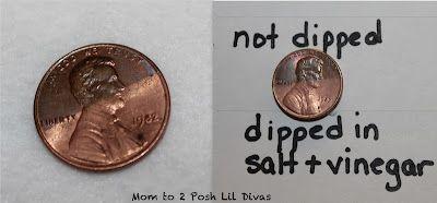 how to clean pennies in bulk