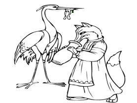 Vulpea şi barza