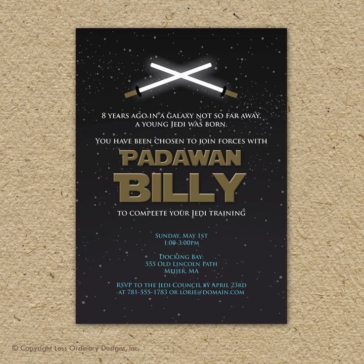 147 best Star Wars Birthday Party images on Pinterest Star wars - fresh birthday party invitation ideas wording